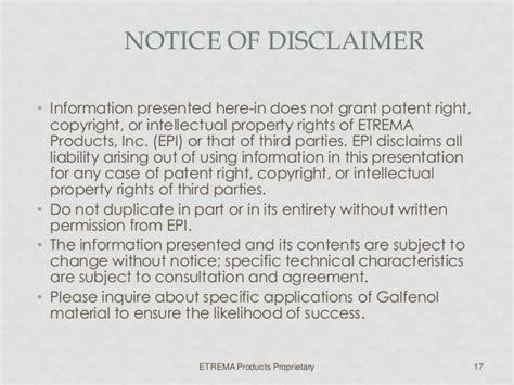 property disclaimer template galfenol release v7