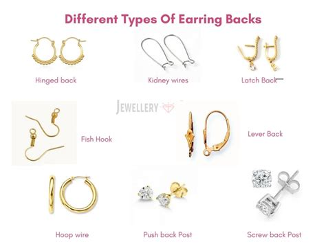 different types of different types of earring backs tips to avoid losing earrings