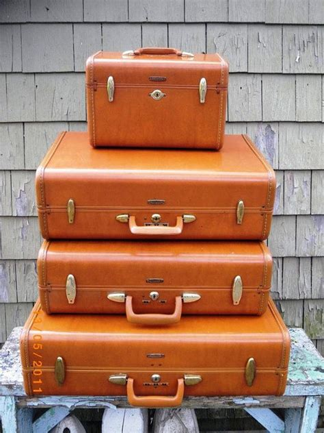beautiful suitcases vintage mid century samsonite luggage set of four 3