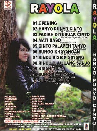 album minang bungo larangan minang pop lagu minang lagu minang rayola album