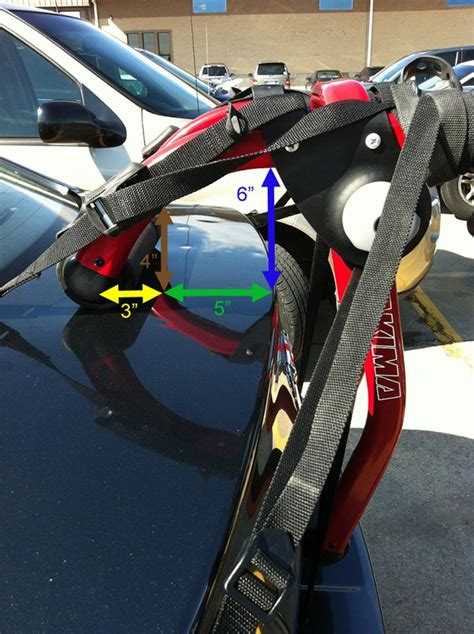 Trunk Mount Bike Rack For Car With Spoiler by Trunk Mounted Bike Rack Options For A 2006 Mazda 3 With Rear Spoiler Etrailer