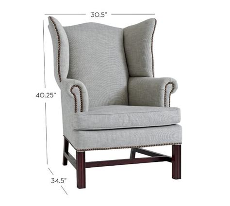 Pottery Barn Chairs On Sale sale thatcher upholstered wingback chair pottery barn