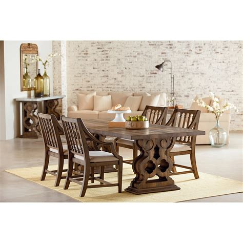 magnolia home trestle table dining room trestle table with corbel bracket base by