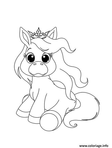 Coloriage Bebe Licorne Princesse Dessin