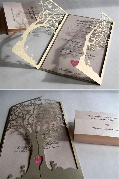 Wedding Invitation Inspiration by 25 Best Ideas About Tree Wedding Invitations On