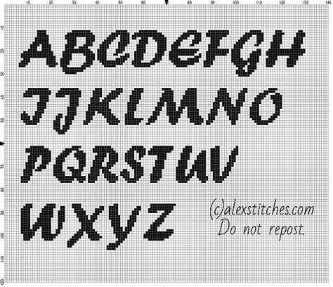 cross stitch alphabet pattern maker free cross stitch alphabet forte font uppercase letters free