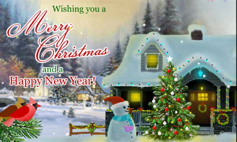 merry christmas  happy  year  greeting card images