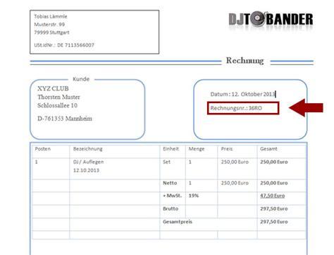 Rechnung Kleinunternehmer Was Muss Drauf Dj Rechnungsvorlage Template Im Ms Word Format