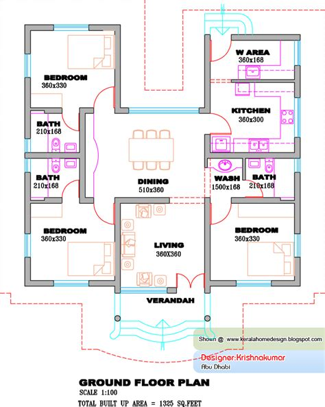 Kerala Home Design Single Floor Plans | kerala single floor house plans single floor house plans
