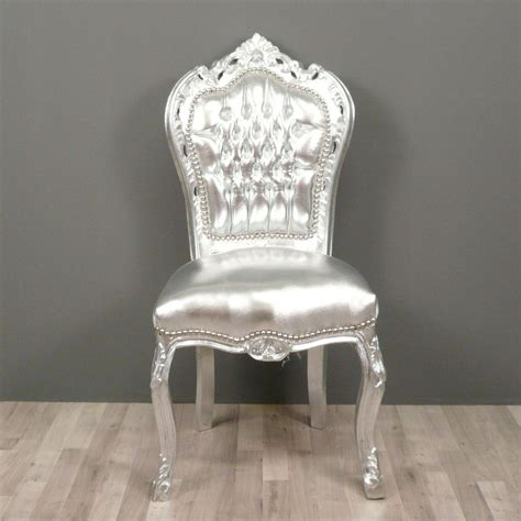 chaises baroques chaise baroque argent 233 e chaises baroque pas cher