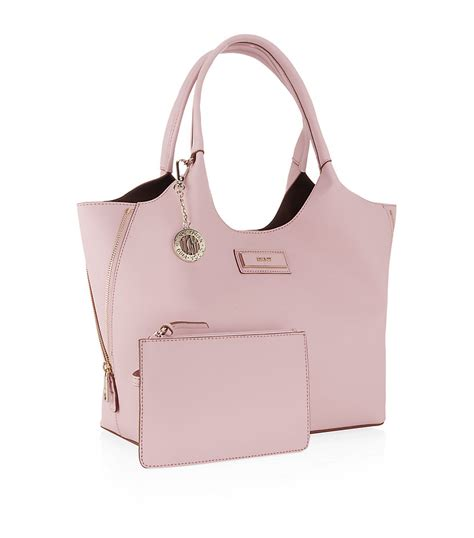 dkny saffiano tote bag in pink light pink lyst