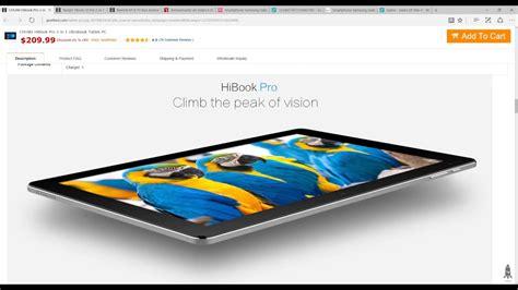 Tablet Pc Chuwi Hibook Pro 2in1 Ultrabook Type C 4gb 64gb 101 Gray chuwi hibook pro 2 in 1 ultrabook tablet pc eu gray