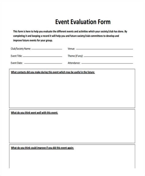 post event evaluation report template post event evaluation template free pertamini co