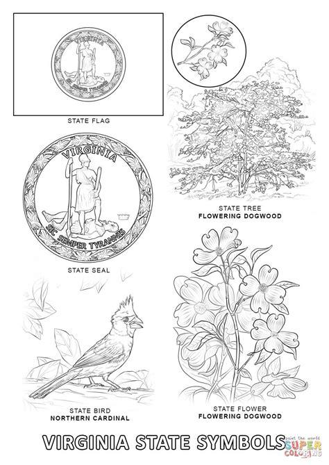 printable coloring pages virina virginia state symbols coloring page free printable