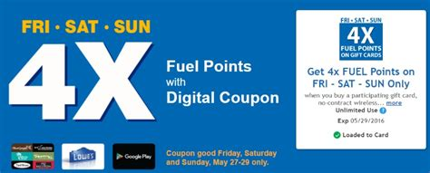List Of Gift Cards Sold At Kroger - 4x kroger fuel points when you buy gift cards valid this weekend only