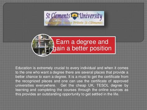 Mba Credit Transfer In Usa ma tesol mba credit transfer stclementsu