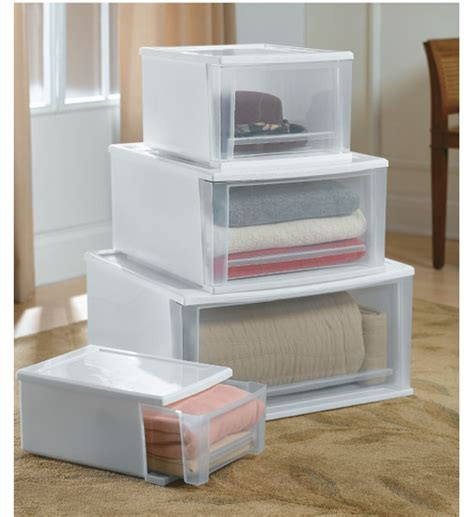 plastic pull out drawer organizer stackable plastic storage drawers white in storage drawers