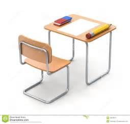 bureau d 233 cole avec le crayon et la gomme illustration