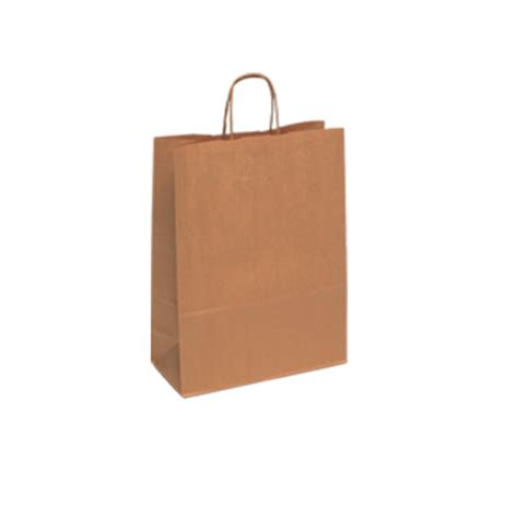 Brown Craft Paper Bag - tbr7111mk medium brown kraft paper carrier bags