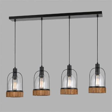 World Market Pendant Light Wood And Glass Industrial 4 Light Pendant L World Market