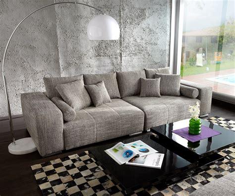 big sofas big sofa marbeya 285x115 hellgrau mit hocker m 246 bel