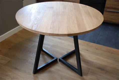 runder ausziehbarer tisch ausziehbarer runder tisch modernes design stahl und holz