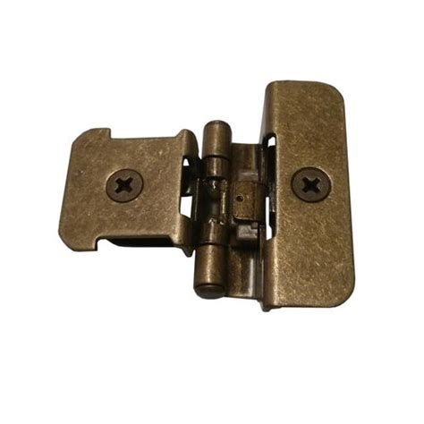 semi concealed cabinet hinges amerock double demountable 1 4 quot overlay hinge burnished