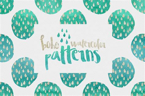 Boho New Pattern boho watercolor patterns patterns creative market