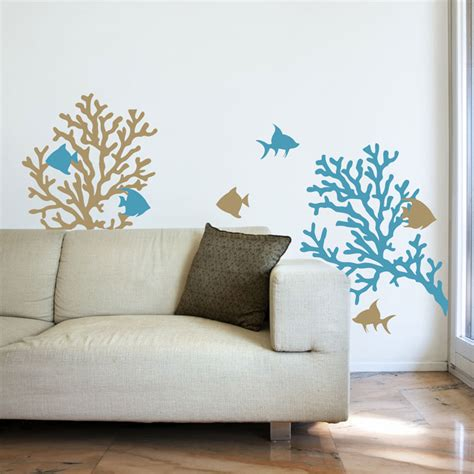 fish stickers for walls coral reef fish wall decals graphic stickers