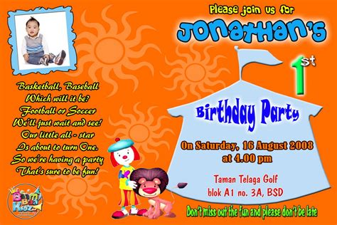 Exle Birthday Invitation Card Birthday Party Kids Party All Kind Of Birthday Party