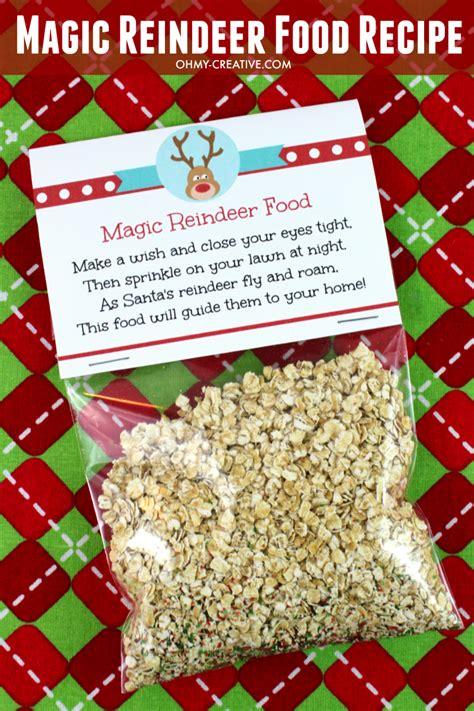 free christmas printables letter to santa reindeer food home magic reindeer food recipe and printable oh my creative