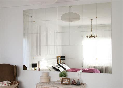 decoracion espejos ikea diy montando una pared de espejos hogar interior