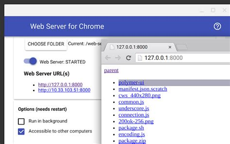 how to make site https web server for chrome chrome web store
