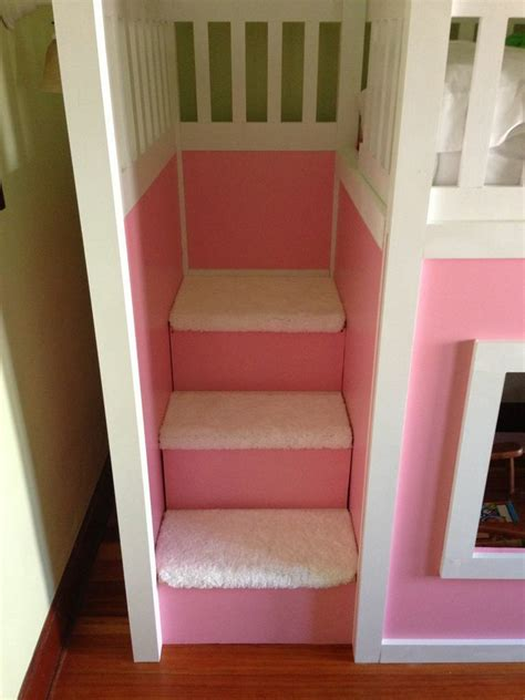 ana white playhouse loft bed  stairs diy projects