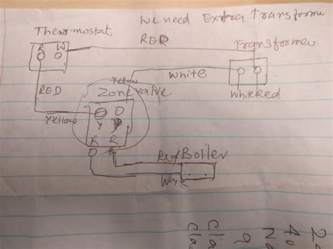 wiring two zone valve with weil mclain water boiler