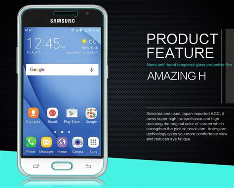 Samsung Galaxy J1 2016 Nillkin High Level Screen Guard nillkin amazing h tempered glass screen protector for