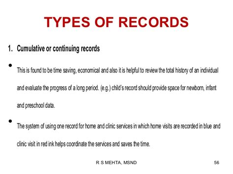 Types Of Records Recording Reporting