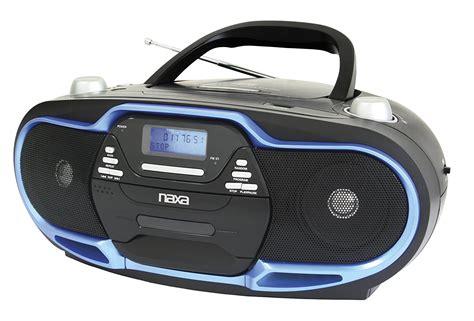 Cd Player Usb Mobil naxa portable mp3 cd player am fm stereo radio usb input black blue 840005004487 ebay