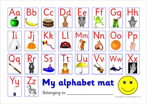 printable alphabet mat alphabet picture mat uppercase with lowercase sb5841