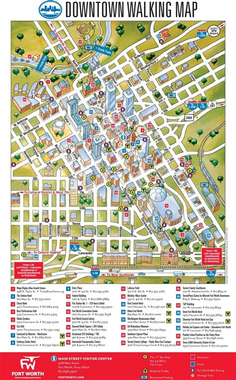 map of fort worth fort worth downtown map