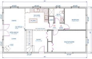 Open Floor House Plans With Loft 1056 Sqft 24 X44 A