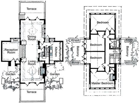 frank lloyd wright style house plans historic row house floor plans google search