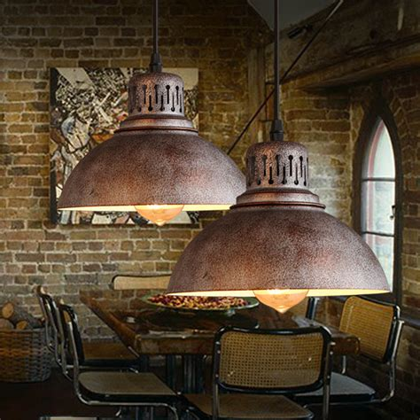 Industrial Kitchen Lighting Fixtures Industrial Chandelier Light L Shade Sconces Iron Pendant Loft Light Fixtures Ebay