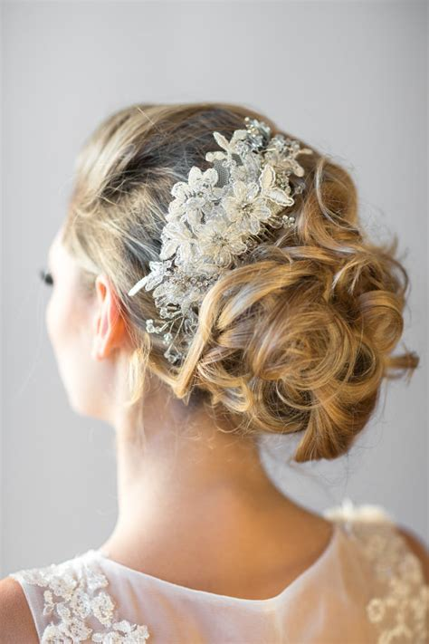 bridal ribbon hairstyles wedding lace head piece pearl beaded lace headband