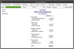 Trust Account Reconciliation Template by Quickbooks For Firms Trust Transactions Accountex