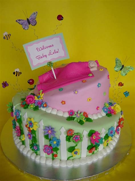 Garden Themed Baby Shower Cakes by Whimsical Garden Themed Baby Shower Cakecentral