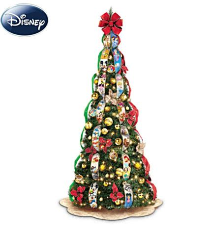 qvc pop up pre lite decorated christmas tree disney pre lit pop up tree mickey fix