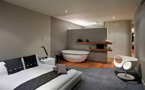 bathtub in bedroom design bedroom bathroom contemporary home in brighton australia