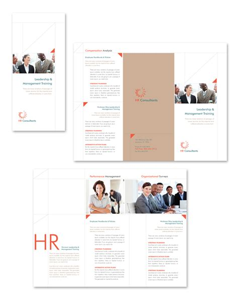 hr consulting tri fold brochure template
