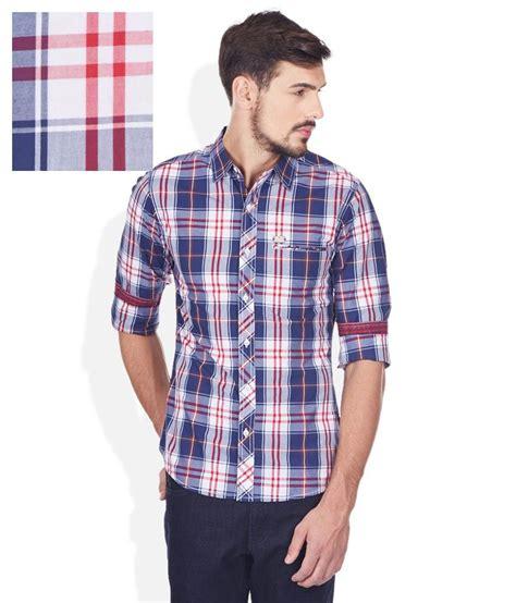 colored shirt spykar multi colored shirt buy spykar multi colored